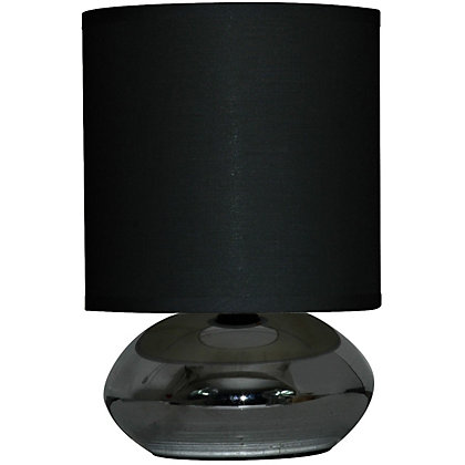 Image for Saalbach Touch Table Lamp - Black Chrome - 23cm from StoreName