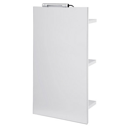 Image for Cannock Freestanding Single Mirror Cabinet - White from StoreName