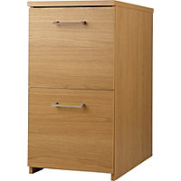 Walton 2 Drawer Filing Cabinet - Oak Effect.