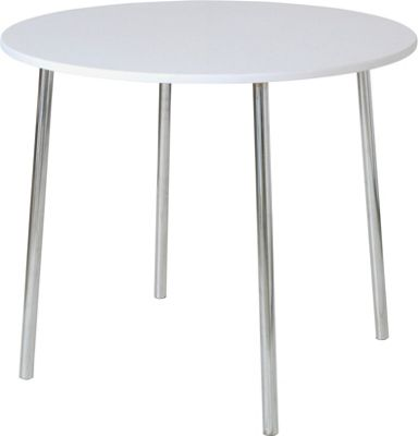 Homebase white round kitchen dining table customer for Top rated dining tables