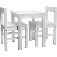 Scandinavia Kids Table and 2 Chairs - White.