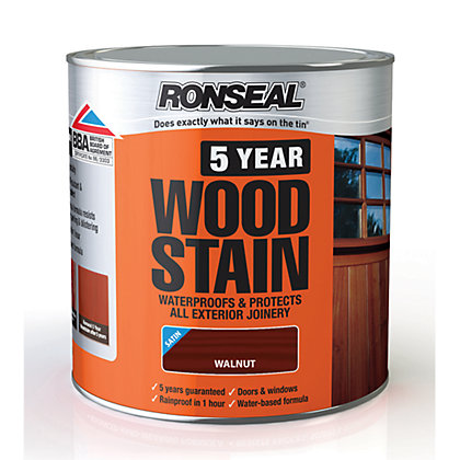 Image for Ronseal 5 Year Woodstain Walnut - 2.5L from StoreName