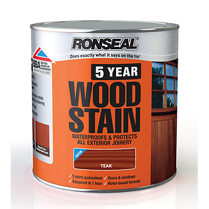 Image for Ronseal 5 Year Woodstain Teak - 2.5L from StoreName