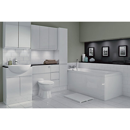 Image for Schreiber Fitted WC Unit Door - White Handleless from StoreName