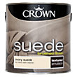 Crown Fashion For Walls Ivory - Suede Matt Emulsion Paint - 2.5L