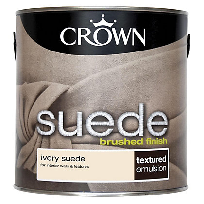 Image for Crown Fashion For Walls Ivory - Suede Matt Emulsion Paint - 2.5L from StoreName