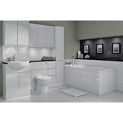 Image for Schreiber Fitted Slimline WC Unit Door - White Handleless from StoreName