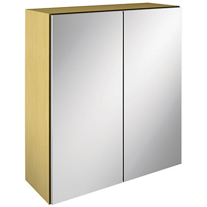Image for Canterbury Double Mirrored Bathroom Cabinet - Oak from StoreName