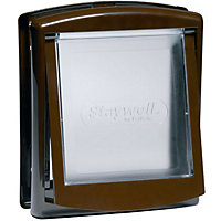 Staywell 2-Way Pet Door - Brown - Small