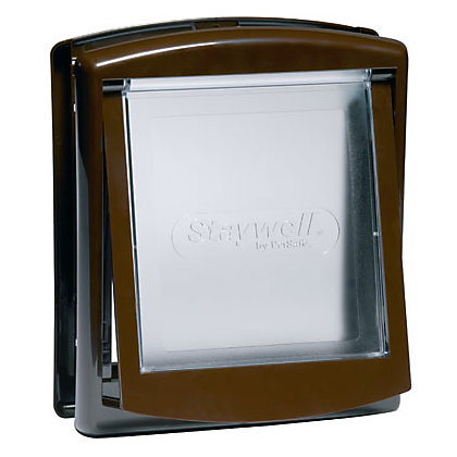 Image for Staywell 2-Way Pet Door - Brown - Small from StoreName