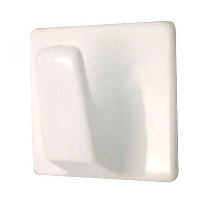Image for Large Square Self-adhesive Hook - White - 2 Pack from StoreName