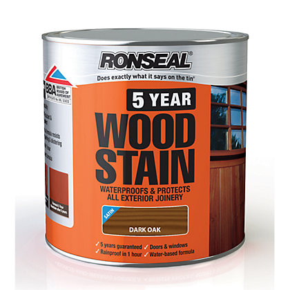 Image for Ronseal 5 Year Woodstain Dark Oak - 2.5L from StoreName