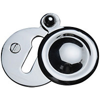 Covered Door Escutcheon - Polished Chrome