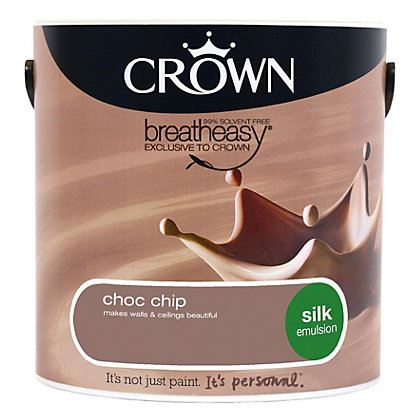 Image for Crown Breatheasy Chocolate Chip - Silk Emulsion Paint - 2.5L from StoreName