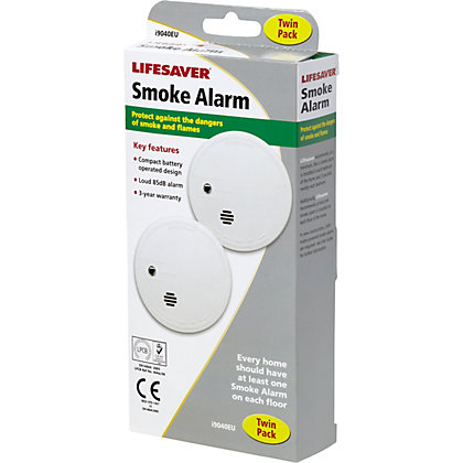 Image for Lifesaver Smoke Alarm Twin-Pack from StoreName