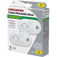 Lifesaver Carbon Monoxide Alarm Twin-Pack