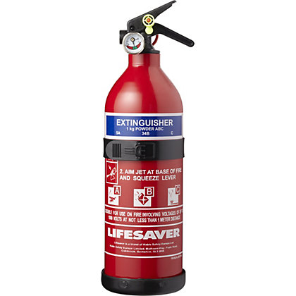 Image for Lifesaver ABC Fire Extinguisher - 1kg from StoreName