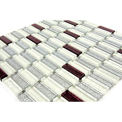 Image for Homelux Mosaic Glass - Aubergine - 1 Pack from StoreName