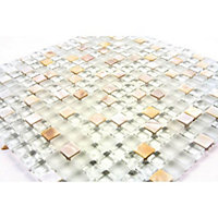 Homelux Mosaic Mixed Media - Pearl - 1 Pack