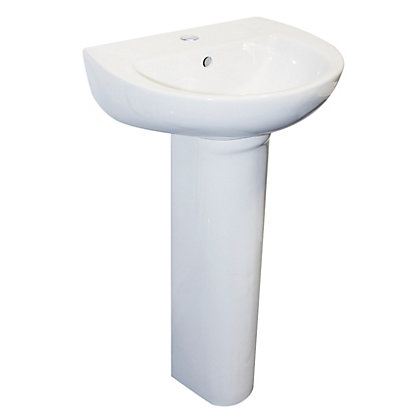 Image for Bristan Cloakroom Basin & Pedestal - 1 Tap Hole from StoreName