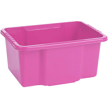 Image for Stack And Store 10 Litre Storage Tub - Pink from StoreName
