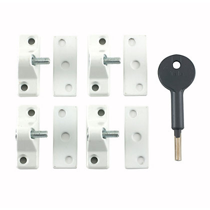 Image for Yale 8K118 Window Lock with 1 Key - White - 4 Pack from StoreName