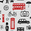 Fresco London Wallpaper - Red