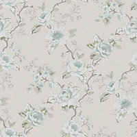 Graham & Brown Rosamund Wallpaper - Duck Egg