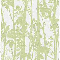 Fresco Fabric Branches Wallpaper - Green