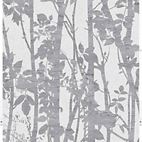 Fresco Fabric Branches Wallpaper - Silver