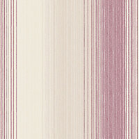 SuperFresco Chambray Stripe Wallpaper - Russet