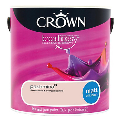 Image for Crown Breatheasy Pashmina - Matt Emulsion Paint - 2.5L from StoreName