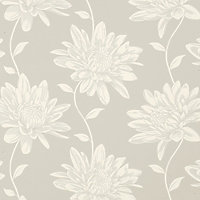 Laura Ashley - Josephine - Dove - Grey - Wallpaper