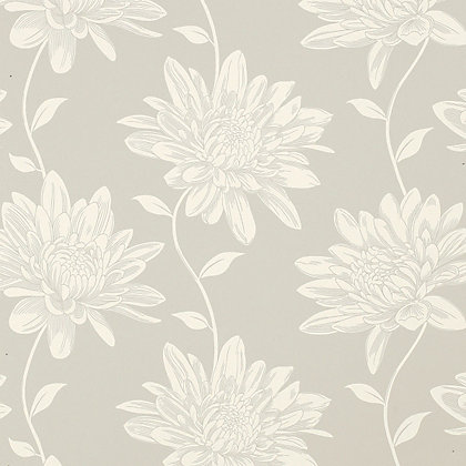 Image for Laura Ashley - Josephine - Dove - Grey - Wallpaper from StoreName