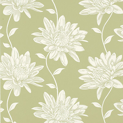 Image for Laura Ashley - Josephine - Moss - Wallpaper from StoreName