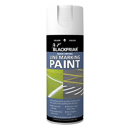 Image for Rust-Oleum Blackfriar White - Line Marking Paint - 400ml from StoreName