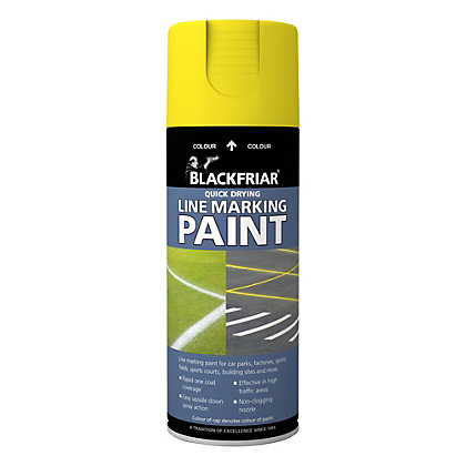 Image for Rust-Oleum Blackfriar Yellow - Line Marking Paint - 400ml from StoreName