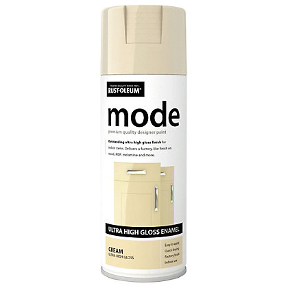 Rust oleum cream mode spray paint 400ml for Spray paint coverage calculator