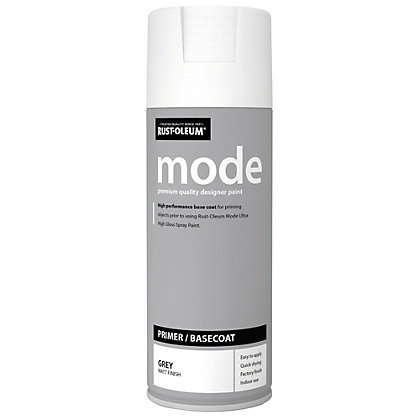 Image for Rust-Oleum Mode Primer Grey Spray Paint - 400ml from StoreName
