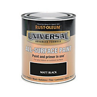 Rust-Oleum Black - Matt Paint - 750ml