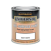 Rust-Oleum White - Matt Paint - 750ml