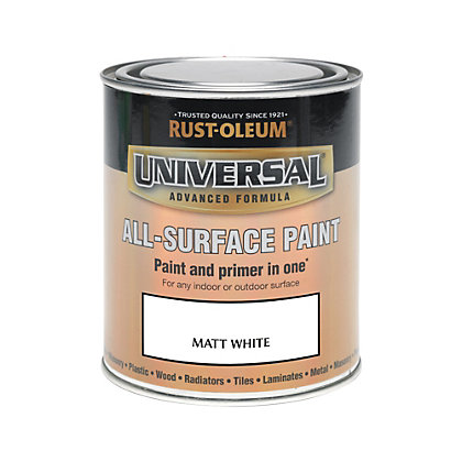 Image for Rust-Oleum White - Matt Paint - 750ml from StoreName