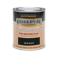 Rust-Oleum Black - Satin Paint - 750ml