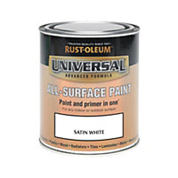 Rust-Oleum White - Satin Paint - 750ml