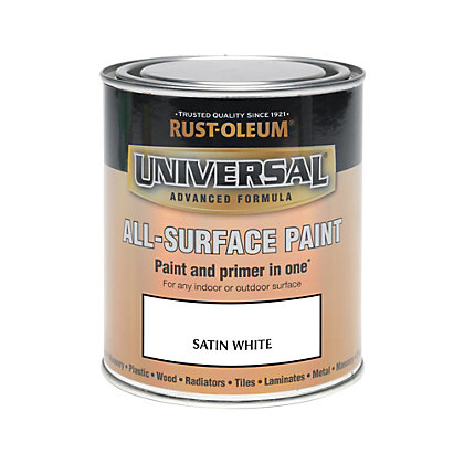 Image for Rust-Oleum White - Satin Paint - 750ml from StoreName
