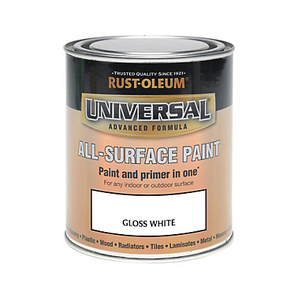 Image for Rust-Oleum White - Gloss Paint - 750ml from StoreName