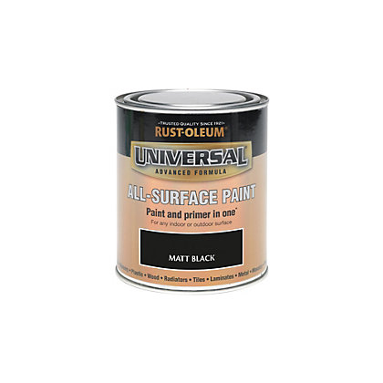 Image for Rust-Oleum Black - Matt Paint - 250ml from StoreName