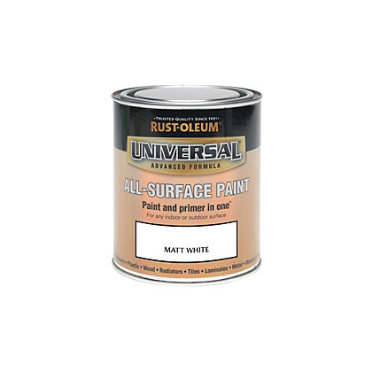 Image for Rust-Oleum White - Matt Paint - 250ml from StoreName