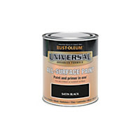 Rust-Oleum Black - Satin Paint - 250ml