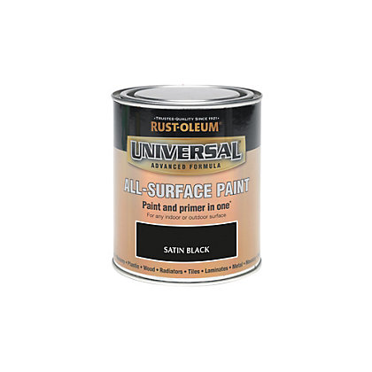 Image for Rust-Oleum Black - Satin Paint - 250ml from StoreName